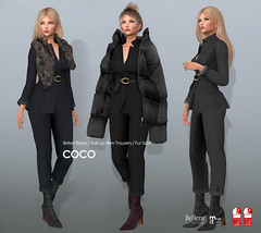 COCO New Release @ Fameshed (cocoro Lemon) Tags: coco newrelease fameshed blazer fur scarf trousers secondlife fashion mesh maitreya slink belleza