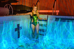 Electroluminescent Pool II (stephenk1977 > @stephenk_lightart) Tags: australia queensland qld brisbane nikon d3300 light painting el wire electroluminescent pool swimming empty closed model modelling swimsuit sexy night longexposure