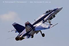 0739 Canadian F18 Takeoff (photozone72) Tags: yeovilton yeoviltonairday airshows aircraft airshow aviation jets canon canon7dmk2 canon100400f4556lii 7dmk2 canadian f18 f18hornet hornet