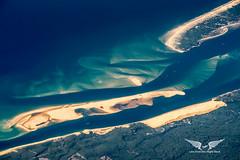 Arcachon Bay, southwest France (gc232) Tags: arcachon bay bassin banc darguin sandbanks dune pilat altitude aerial landscape france fromabove livefromtheflightdeck