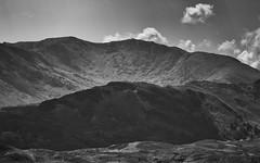 Rising Hills (grobigrobsen) Tags: greatbritain unitedkingdom england northernengland cumbria lakedistrict landscape blackandwhite bw monochrome outdoor hills travel sky ridge