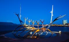 The Sun Voyager.... (Ashk81) Tags: icelandarchitecture icelandicroadtrip reykjavikattractions vikings exploreiceland attractionsoficeland iceland architecture dusklight dusk longexposure longexposurejunkies twilight canonlseries