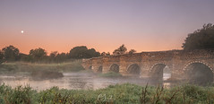 Sunrise at Whitemill Bridge (C Sinclair) Tags: whitemillbridge riverstour dorset sunrise river moonset