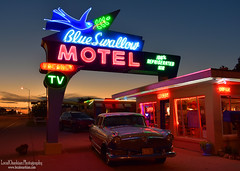Blue Swallow Motel - Route 66 (LocalOzarkian Photography - Ozarks/ Route 66 Photo) Tags: tucumcarinewmexico tucumcaritonight newmexico newmexicoroute66 nmroute66 nm route66 motherroad southwest west blueswallowmotel blueswallow