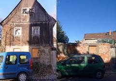 Bauernhaus in Alttrachau, 2016 und 2018 (Veit Schagow) Tags: building rebuilding bauernhaus farmershouse farmhouse alttrachau dresden wiederaufbau rekonstruktion veränderung change changing gegenberstellung vergleich comparison
