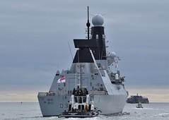HMS Defender D36 (2) @ The Solent 08-10-18 (AJBC_1) Tags: england uk unitedkingdom ship boat vessel warship military royalnavy navy nato navalvessel rn hmsdefender d36 destroyer airdefencedestroyer britishmilitary ukmilitary dlrblog ©ajc britisharmedforces type45destroyer ajbc1 nikond5300 thesolent hampshire militaryvessel southsea tug tugboat sdindependent damen damenshipyardsgroup sercoltd harbourtug sercomarineservices