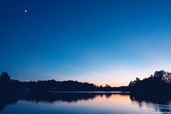 Laughter (gusdiaz) Tags: fujifilm fuji xt2 beautiful amazing atardecer lago reflection reflejo agua bosque trees tree arboles fall autumn otoño serene serenity sereno laughter love moon luna vsco vscocam