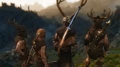 Beasts of Druadach V (Loneranger05) Tags: skyrim tesv skylight enb forsworn reach druadach madanach fight female nord breton warrior hagraven
