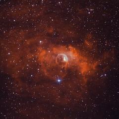 NGC7635 - Bubble Nebula - HaSgOIII (Crop) (Cristiano Secci) Tags: astronomy astrophotography astrophoto asi1600mm skywatcher ioptron cem60 optolong narrowband nebula universe stars nightsky