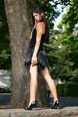 Nathalie 80 (The Booted Cat) Tags: legs heels highheels feet miniskirt sexy brunette long hair model girl pumps