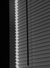 Sunlight and Shadow (arbyreed) Tags: arbyreed monochrome bw blackandwhite light shadow blinds miniblinds craig moffitcountycolorado oceanpearl restaurant momandpoprestaurant chineserestaurant