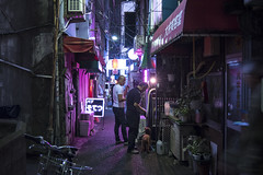 NIGHT WITH THE DOG (ajpscs) Tags: ©ajpscs ajpscs 2018 japan nippon 日本 japanese 東京 tokyo city people ニコン nikon d750 tokyostreetphotography streetphotography street seasonchange fall autumn aki あき 秋 shitamachi night nightshot tokyonight nightphotography citylights tokyoinsomnia nightview tokyoyakei 東京夜景 lights hikari 光 dayfadesandnightcomesalive strangers urbannight attheendoftheday urban othersideoftokyo walksoflife tokyoscene anotherday streetoftokyo alley tokyoalley happyhour nightwiththedog