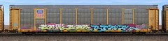 Seksoe/Bige (quiet-silence) Tags: graffiti graff freight fr8 train railroad railcar art autorack seksoe bige up unionpacific ttgx996905