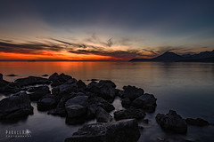 Spring Sunset (Paralex photography) Tags: sunset sunshine sunrise sky orange color blue pretty sun red clouds sea adriatica adriaticsea montenegro crnagora view nature sunny beautiful horizon amazing rocks beach ocean rock water calm calmness twilight springtime