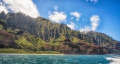 Na Pali Coast (Amazing Aperture Photography) Tags: landscape seascape ocean pacific pacificocean sea water blue sky clouds horizon nature outside outdoors explore adventure travel hawaii kauai napali coast napalicoast beautiful island green volcanic rockformations nikon nikond800