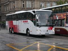Landtourer Coaches of Fareham Mercedes Benz Tourismo BF16XRM,in Globus tours livery, at Princes Street, Edinburgh, on 18 September 2018. (Robin Dickson 1) Tags: edinburghcoachlines landtoureroffareham mercedesbenztourismo busesedinburgh globustours bf16xrw
