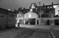 Liverpool at night (Manuel Goncalves) Tags: road building nightphotography 35mmfilm ilfordhp5 nikonn90s longexposure epsonv500scanner blackandwhite liverpool merseyside