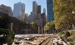 Bryant Park (neilsonabeel) Tags: nikonfe2 nikon nikkor film analogue newyorkcity manhattan bryantpark park construction