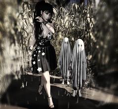 Children of the Corn (♡ Ɗ A K O T A L E I G H ♡) Tags: halloween corn people portrait ava catwa landscape maitreya boujee bright mono secondlife horror