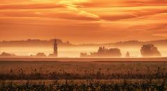 FOGGY SUNRISE (drummerwinger) Tags: rot sunrise nebel fog canon80d erding herbst autumn