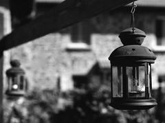 Lantern (•Nicolas•) Tags: nicolasthomas holidays vacances film ilford fp4 analog lantern auvergne lamp lampe decoration garden outdoor