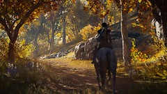 Riding The Autumn Trail (nicksoptima) Tags: ps4 assassins creed odyssey screenshot autumn landscape ubisoft horse