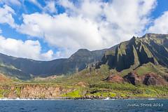 Na Pali Mountains 6 (strjustin) Tags: beautiful clouds landscape mountains kauai hawaii napali