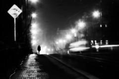 Legion Bridge (Something Sighted) Tags: prague czechrepublic streetphotography impressionistphotography blackandwhite night noiretblanc lesoir bridge mostlegií legionbridge