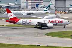 Austrian Airlines   Boeing   777-2Q8ER   OE-LPF (TFG Lau) Tags: vhhh hkia hkg hongkong hongkonginternationalairport airplane aeroplane aircraft plane planespotting spotting canon canoneos eos eos5dmarkiii ahkgap austrianairlines aua os boeing boeing777 b777 b772 b77e oelpf staralliance star