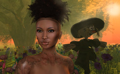 Alea in Oktober- somebody watching me 2 (Alea Lamont) Tags: ndmd eden skins female ethnic skin afro american woman african black women catwa lee bento head unorthodox ziggy puff hair