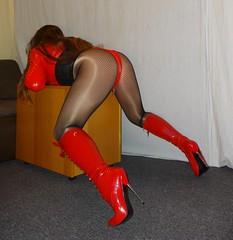 DSC04730 (Mandy Buffalo) Tags: boots red stilettos stiletto highheels heels high heel higheels