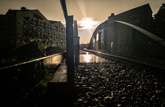 New Uppsala, September 10, 2018 (Ulf Bodin) Tags: uppsala rail building bridge samsunggalaxys9 outdoor lännakatten clouds sun summer bro diamanten architecture regn sverige rain sweden railroad uppsalalän se