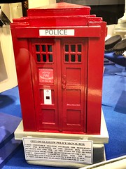 Glasgow Police Museum - Glasgow Scotland - 2/10/18 (DanoAberdeen) Tags: britishtelecom phonebox redpolicebox policebox landline police museum history olddays vintage memorabilia candid amateur medals cap insignia 2018 enforcement policescotland strathclydepolice badge pin plaque sempervigilo bluelights bobbies oldbillauthority policeofficer woman man law justice barlinnie emergencyservices scottish force ranking constable chief 60s 70s 80s glasgowpolicemuseum glasgowscotland handcuff handcuffs restrained detained guilty