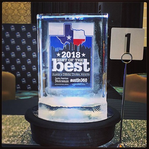 Who will be number one? Tonight is the night to find out the #bestofthebest2018 in #austin at the @austinchronicle annual awards #event @hyattaustin Stay tuned... #fullspectrumice #icesculpture #branding #thinkoutsidetheblocks #brrriliant - Full Spectrum