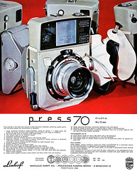 "Linhof press 70 camera advertisement. (Jerry Vacl) Tags: advertisement presscamera linhof linhofpress70 19691""internationalphototechnik""photographymagazinefromgermanyenglishedition nikond7200 micronikkor40mmf28g"