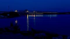 DMAFR Day 4 (38) (momentspause) Tags: mississippiriver iowa roadtrip canon5dmkiii longexposure canonef50mmf18 niftyfifty bluehour riverside train bridge