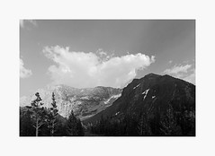 Tioga Pass | A Road Trip (bnishimoto) Tags: roadtrip fujifilm acros bw monochrome xpro2 18135mm landscape sky mountainside mountain