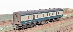 Roof weathering experiment (honk843) Tags: bg blue grey parcels weathered coach british rail