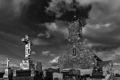 Ecault church (JLM62380) Tags: ecault church france église christ stones graves cemetery cimetière tombes nuahes clouds monochrome blackandwhite