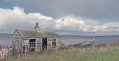 Forgotten corner (judmac1) Tags: decay neglect building boat island orkney clouds deserted