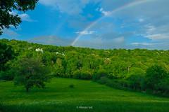 Podveležje, Bosnia and Herzegovina (HimzoIsić) Tags: landscape countryside rural forest grass green hill field mountainside mountain tree wood sky clouds serene rainbow nature