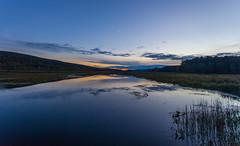 Crescent Moon Over The Basha Kill (John Kocijanski) Tags: crescentmoon sunset sky clouds reflections bashakill landscape wetlands canon1740mmllens canon5dmkii sullivancounty