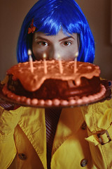 #‎ProjectNeverland: ‪#‎Coraline‬ (TheJennire) Tags: photography fotografia foto photo canon camera camara colours colores cores light luz young tumblr indie movie cinema film scene neilgaiman halloween 2017 projectneverland conceptualphotography book animation dream fantasy dreamy bluehair cake spookyseason ibiuna brasil brazil saopaulo eyes bigeyes food welcomehome spooky