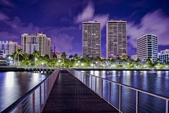 City of West Palm Beach, Palm Beach County, Florida, USA (Photographer South Florida) Tags: westpalmbeach palmbeachcounty city cityscape urban downtown skyline southflorida density centralbusinessdistrict skyscraper building architecture commercialproperty cosmopolitan metro metropolitan metropolis sunshinestate realestate highrise royalparkbridge townofpalmbeach palmbeach clearlake trumptowers