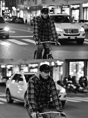 [La Mia Città][Pedala] (Urca) Tags: milano italia 2018 bicicletta pedalare ciclista bike bicycle nikondigitale scéta ritrattostradale portrait dittico biancoenero blackandwhite bn bw 115859