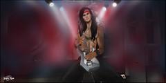 #9 - Rock Star (Yvain Vayandar) Tags: gabriel damselfly yasum rock star heavy secondlife focusposes guitar {id} tabou sl concert music slin akeruka decoration longhair longmane
