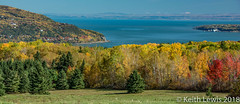 Looking down at  Baie St Paul and the St Lawrence (keithhull) Tags: quebec saintlawrenceriver baiestpaul landscape autumn trees canada 2017