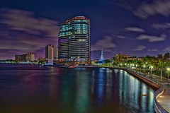 City of West Palm Beach, Palm Beach County, Florida, USA (Photographer South Florida) Tags: westpalmbeach palmbeachcounty city cityscape urban downtown skyline southflorida density centralbusinessdistrict skyscraper building architecture commercialproperty cosmopolitan metro metropolitan metropolis sunshinestate realestate highrise royalparkbridge townofpalmbeach palmbeach clearlake bristol bristolpalmbeach condominium icw