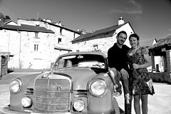 Elodie et Nicolas (Michel Seguret Thanks for 13.6 M views !!!) Tags: france aveyron levezou mercedes mercedesbenz 190d michelseguret nikon d800 pro portrait report reportage automne fall