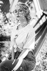 Marion (C.Syl20) Tags: aveyron marion shooting sonya7rmkii syl20photographeaveyron blackandwhite bleueyes bleuhair busty girl glasses lipstick lolipop lunette model modèle nikkor352ais noiretblanc outdoor pinup rock sexy